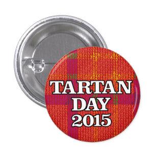 Tartan Day 2015 mini-button 3 Cm Round Badge