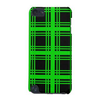 Tartan Ebony (Lime) iPod Touch Case