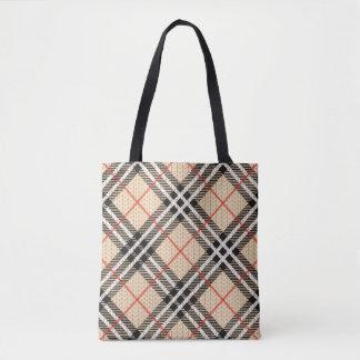 Tartan Fabric Tote Bag