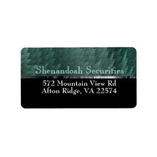 Tartan Feather Forest Green Black Address Labels