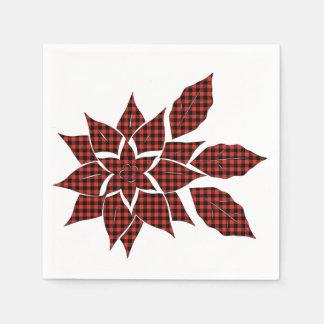 Tartan flower disposable serviette