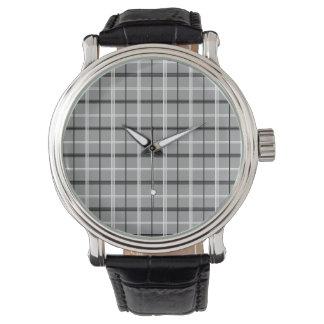 Tartan Grey Classy Elegant Minimal Stylish Cool Wrist Watch