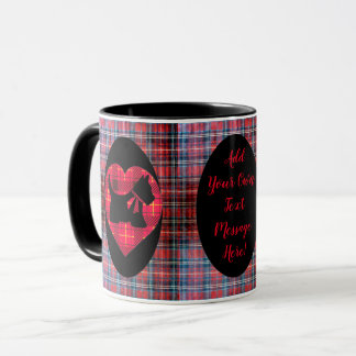 Tartan Heart Scotty Dog Mug