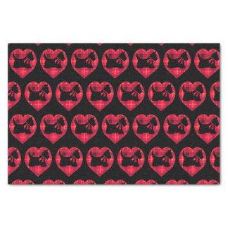 Tartan Heart Scotty Dog Tissue Paper