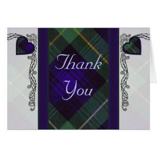 Tartan & hearts - Thank you - Campbell of Argyll Card