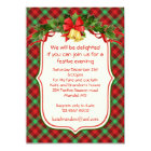 Tartan holly bells Christmas party Invitation