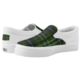Tartan in green printed shoes