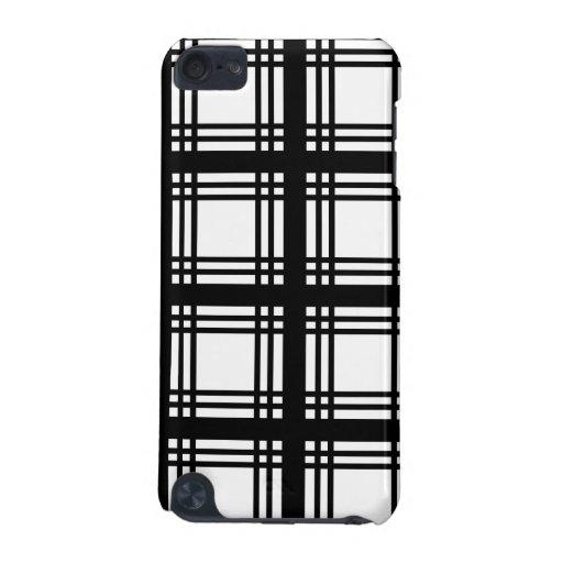 Tartan Ivory (Black) iPod Touch Case