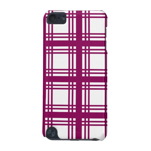 Tartan Ivory (Red-Violet) iPod Touch Case
