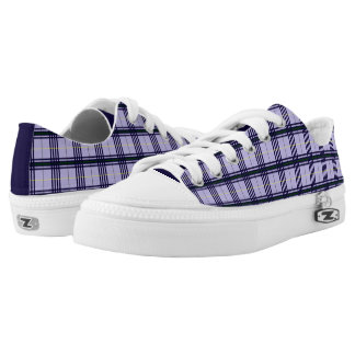 Tartan Lavender Printed Shoes