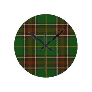 Tartan_of_Newfoundland_and_Labrador Round Clock