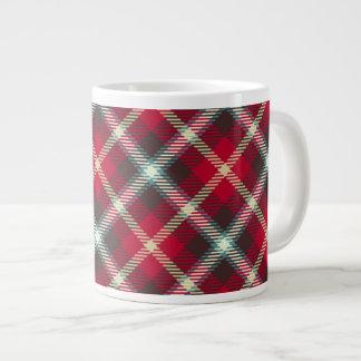 Tartan Pattern Christmas Plaid 20oz Coffee 20 Oz Large Ceramic Coffee Mug