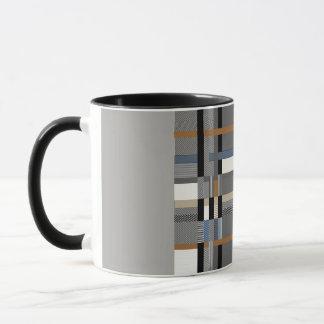 Tartan pattern mug