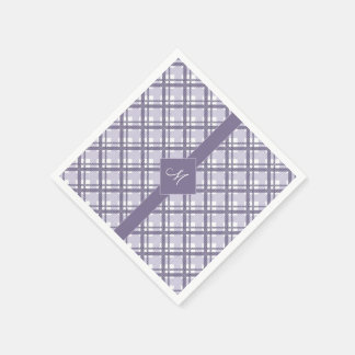 Tartan pattern of stripes and squares disposable serviette