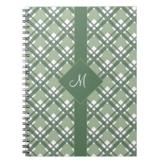 Tartan pattern of stripes and squares notebook