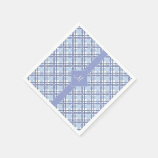 Tartan pattern of stripes and squares paper napkin