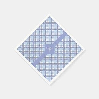 Tartan pattern of stripes and squares paper napkin