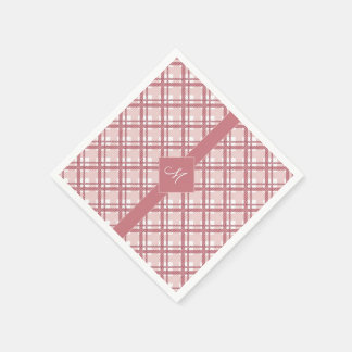 Tartan pattern of stripes and squares paper serviettes