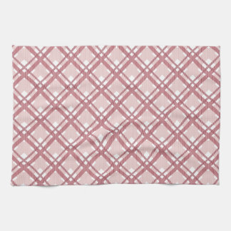 Tartan pattern of stripes and squares kitchen towel