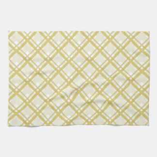 Tartan pattern of stripes and squares hand towel