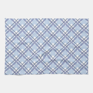 Tartan pattern of stripes and squares tea towel