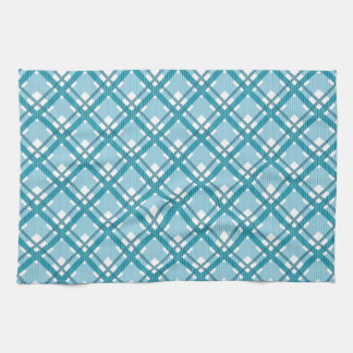 Tartan pattern of stripes and squares tea towels