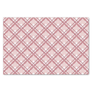"""Tartan pattern of stripes and squares 10"""" x 15"""" tissue paper"""
