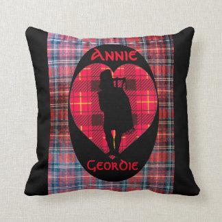 Tartan Piper Heart Throw Pillow
