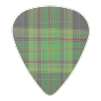 Tartan Plaid Acetal Guitar Pick
