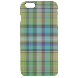 Tartan Plaid Clear iPhone 6 Plus Case