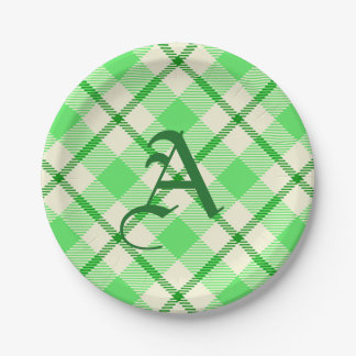 Tartan Plaid Green St. Patrick's Day Paper Plate