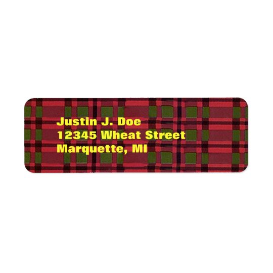Tartan Plaid Highland Scotland Your Address Labels