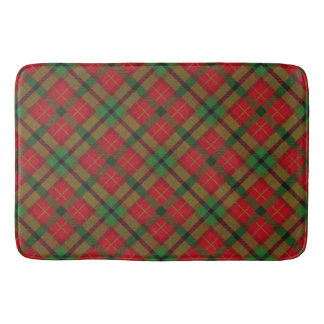 Tartan Plaid Holiday Festive Christmas Bath Mat