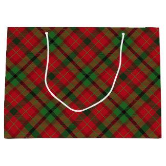 Tartan Plaid Holiday Festive Christmas Large Gift Bag