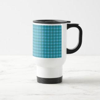 Tartan Plaid Light Blue and Green Coffee Mugs