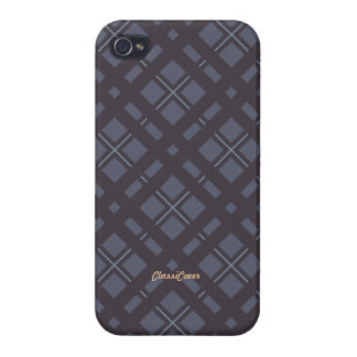 Tartan Plaid Pale Purple Pattern Savvy Cover For iPhone 4