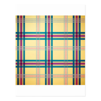 Tartan plaid pattern background postcard