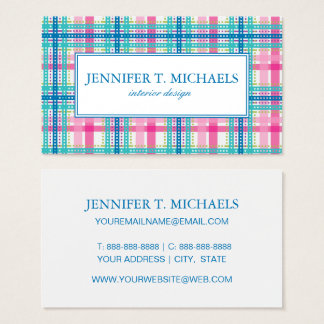 Tartan, plaid pattern business card