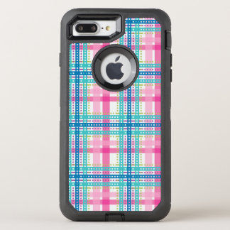 Tartan, plaid pattern OtterBox defender iPhone 7 plus case