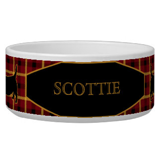 Tartan Plaid Scottish Terriers/Scotties Dog Bowl