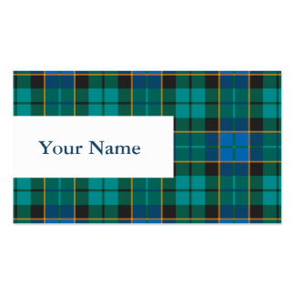Tartan plaids pattern - traditional blue green pack of standard business cards