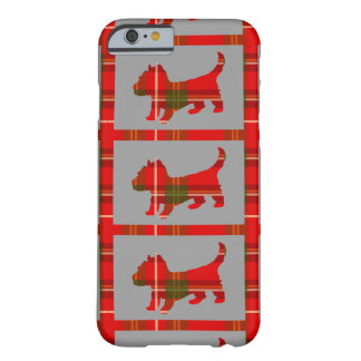 Tartan Puppy on iPhone 6/6s Barely There Case