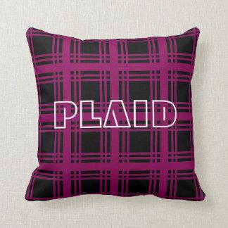 Tartan (Red-Violet) Pillow Cushions