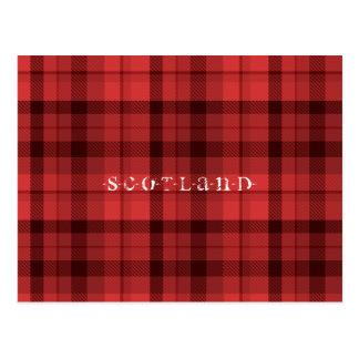 Tartan Scotland Postcard