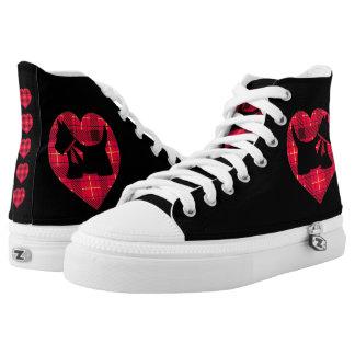 Tartan Scottie High Top Sneakers Zipz
