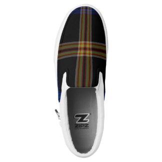 Tartan Slip-On Shoes