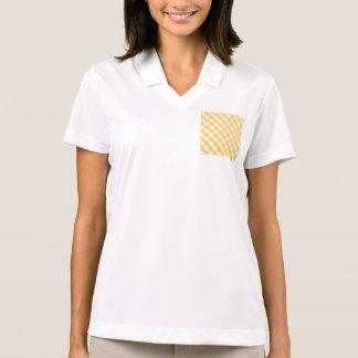 Tartan,stripes,yellow,white,trendy,fun,happy,girly Polos