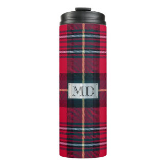 Tartan with (or without) your Initials Thermal Tumbler