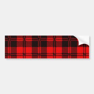 Tartan Wool Material Bumper Sticker