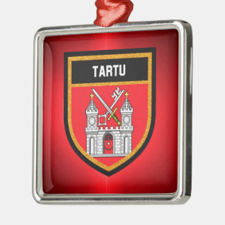 Tartu Flag Metal Ornament